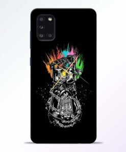 Thanos Hand Samsung Galaxy A31 Mobile Cover - CoversGap
