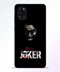 The Joker Samsung Galaxy A31 Mobile Cover - CoversGap
