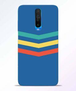 Three Line Stripe Poco X2 Back Cover