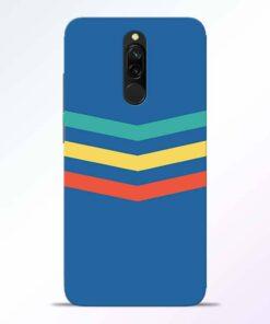 Three Line Stripe Redmi 8 Back Cover