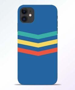Three Line Stripe iPhone 11 Back Cover