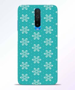 Tiffany Flower Poco X2 Back Cover