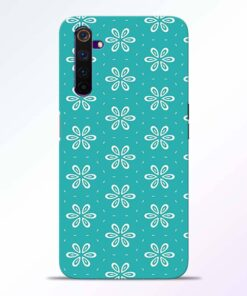 Tiffany Flower Realme 6 Back Cover