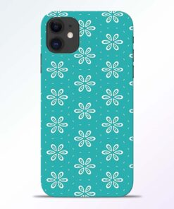 Tiffany Flower iPhone 11 Back Cover