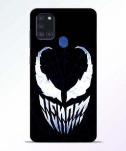 Venom Face Samsung Galaxy A21s Mobile Cover - CoversGap