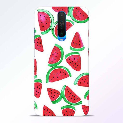 Watermelon Pattern Poco X2 Back Cover