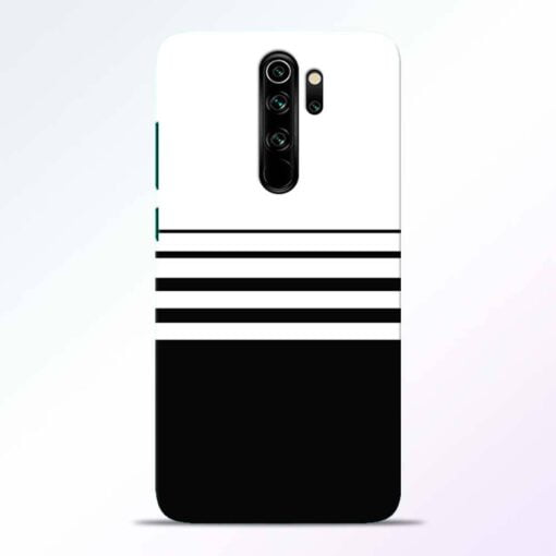 White Strip Redmi Note 8 Pro Back Cover