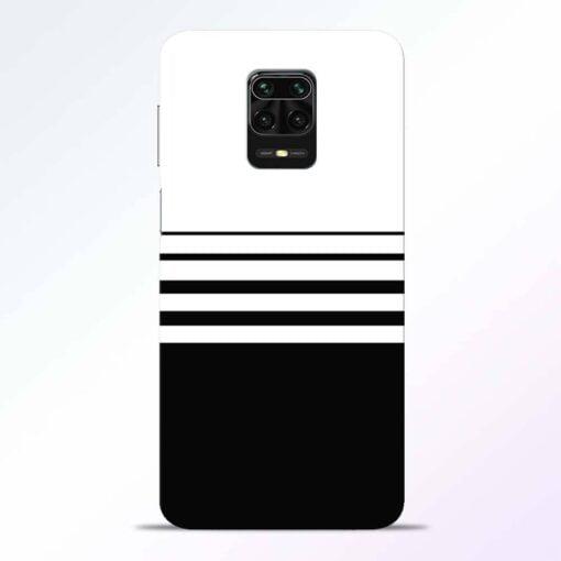 White Strip Redmi Note 9 Pro Back Cover