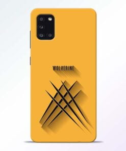 Wolverine Samsung Galaxy A31 Mobile Cover - CoversGap
