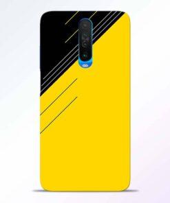 Yellow Black Pattern Poco X2 Back Cover