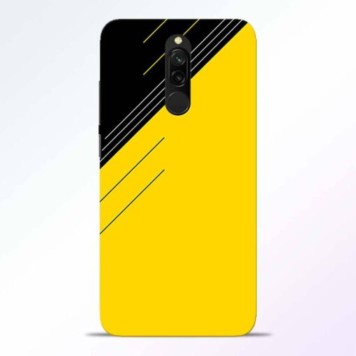 Yellow Black Pattern Redmi 8 Back Cover