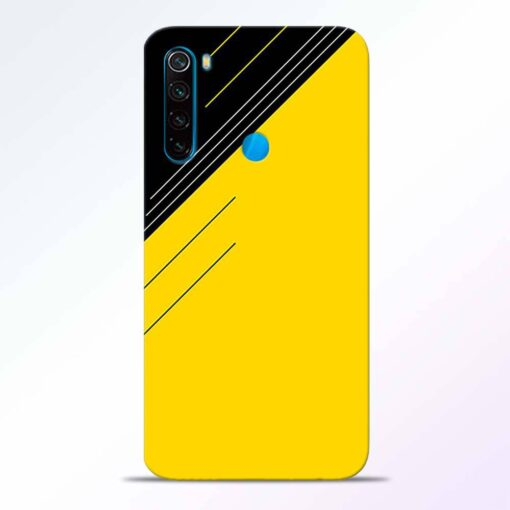 Yellow Black Pattern Redmi Note 8 Back Cover