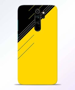 Yellow Black Pattern Redmi Note 8 Pro Back Cover
