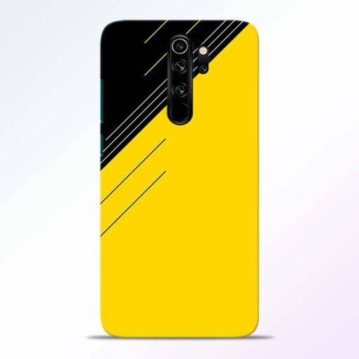 Yellow Black Pattern Redmi Note 8 Pro Back Cover