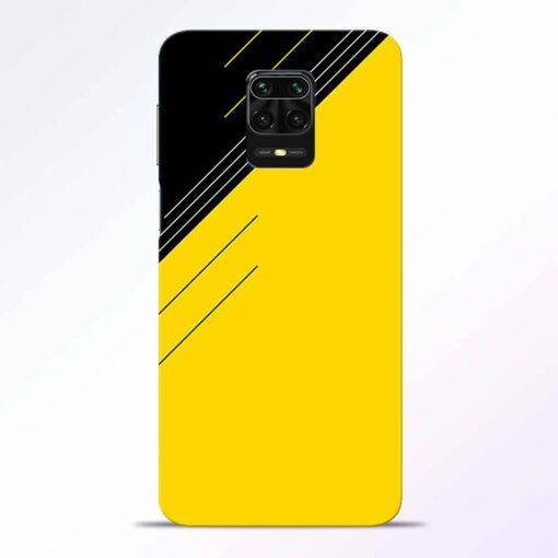Yellow Black Pattern Redmi Note 9 Pro Back Cover