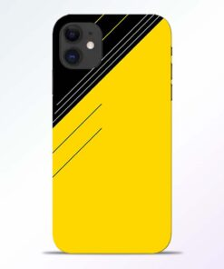Yellow Black Pattern iPhone 11 Back Cover