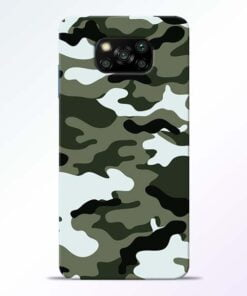 Army Camo Poco X3 Back Cover - CoversGap