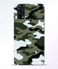 Army Camo Realme 7 Pro Back Cover - CoversGap