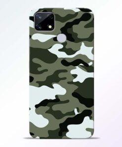 Army Camo Realme Narzo 20 Back Cover - CoversGap