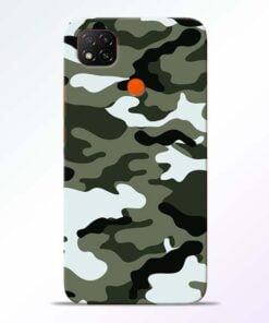 Army Camo Redmi 9 Back Cover - CoversGap