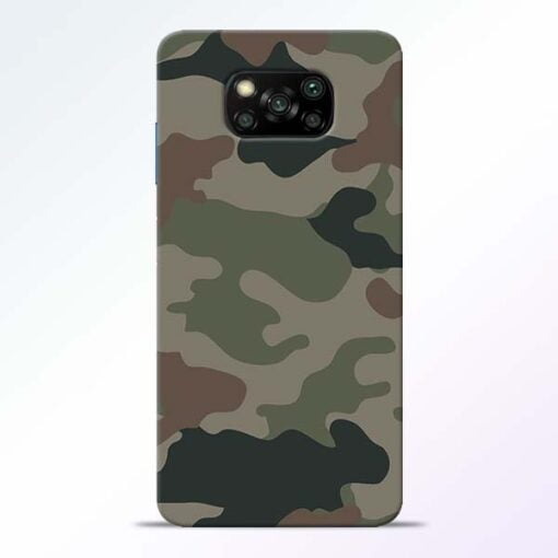 Army Camouflage Poco X3 Back Cover - CoversGap