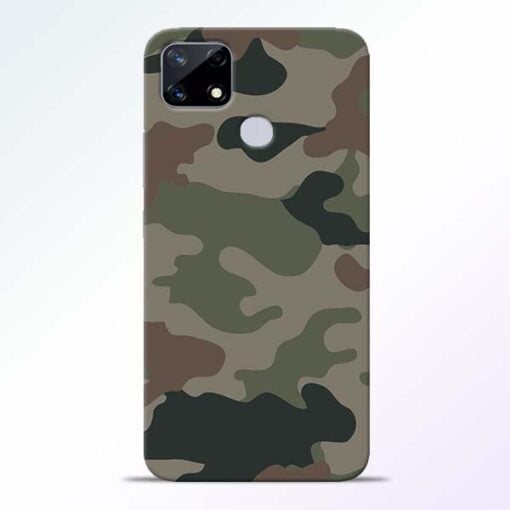 Army Camouflage Realme Narzo 20 Back Cover - CoversGap