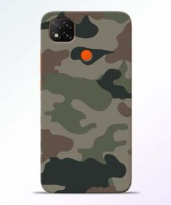 Army Camouflage Redmi 9 Back Cover - CoversGap