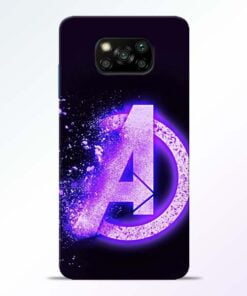 Avengers A Poco X3 Back Cover - CoversGap