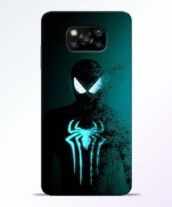 Black Spiderman Poco X3 Back Cover - CoversGap