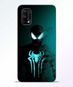 Black Spiderman Realme 7 Pro Back Cover - CoversGap