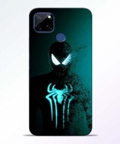 Black Spiderman Realme C12 Back Cover - CoversGap