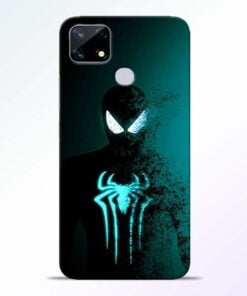 Black Spiderman Realme Narzo 20 Back Cover - CoversGap