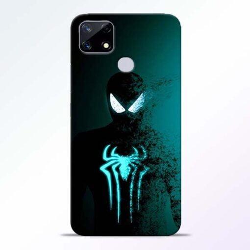 Black Spiderman Realme Narzo 20 Back Cover - CoversGap