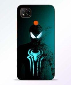 Black Spiderman Redmi 9 Back Cover - CoversGap