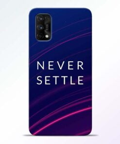 Blue Never Settle Realme 7 Pro Back Cover - CoversGap
