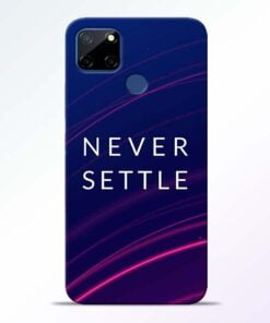 Blue Never Settle Realme C12 Back Cover - CoversGap