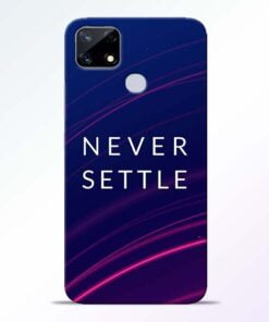 Blue Never Settle Realme Narzo 20 Back Cover - CoversGap