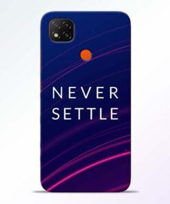 Blue Never Settle Redmi 9 Back Cover - CoversGap