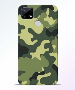 Camouflage Realme Narzo 20 Back Cover - CoversGap