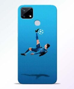 Football Kick Realme Narzo 20 Back Cover - CoversGap