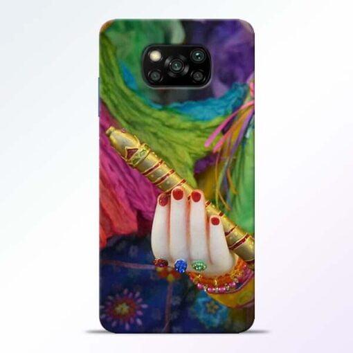 Krishna Hand Poco X3 Back Cover - CoversGap
