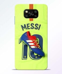 Leo Messi Poco X3 Back Cover - CoversGap