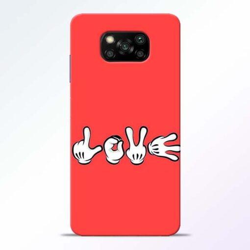 Love Symbol Poco X3 Back Cover - CoversGap