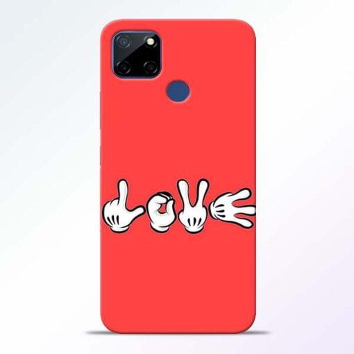 Love Symbol Realme C12 Back Cover - CoversGap