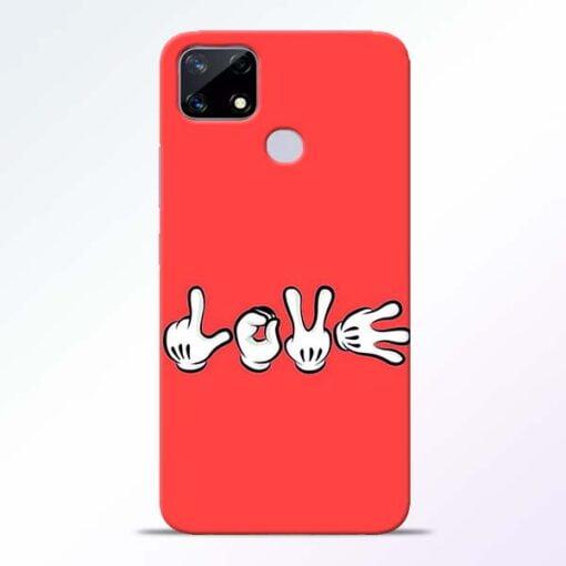 Love Symbol Realme Narzo 20 Back Cover - CoversGap