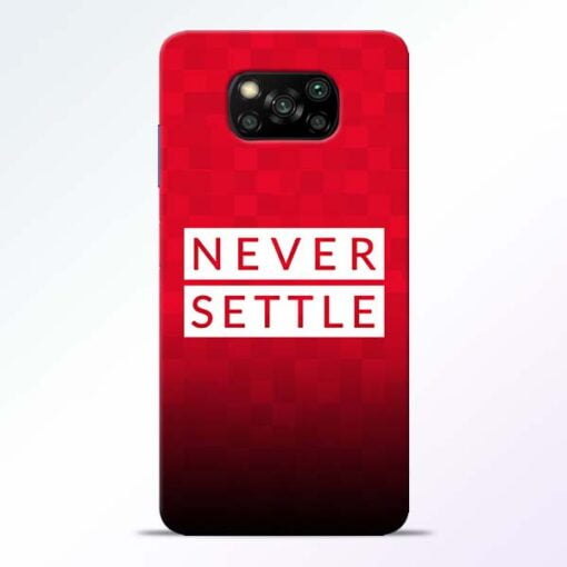 Never Settle Poco X3 Back Cover - CoversGap
