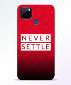 Never Settle Realme C12 Back Cover - CoversGap