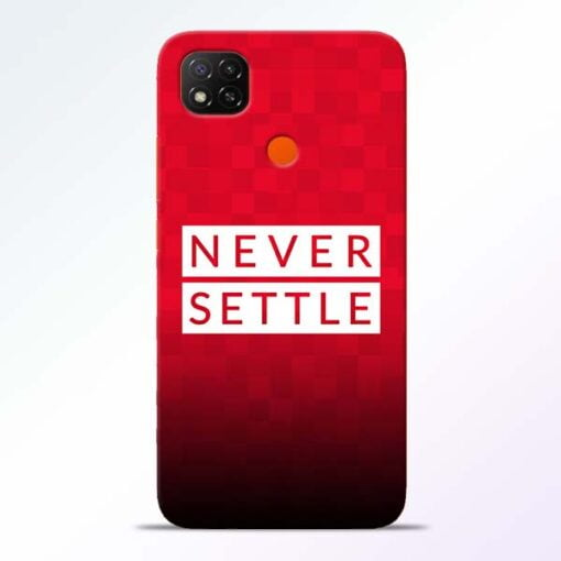 Never Settle Redmi 9 Back Cover - CoversGap