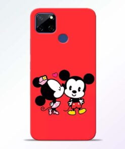 Red Cute Mouse Realme C12 Back Cover - CoversGap