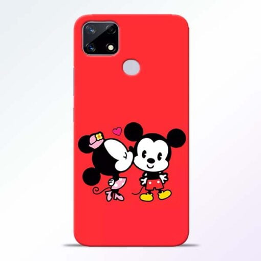 Red Cute Mouse Realme Narzo 20 Back Cover - CoversGap